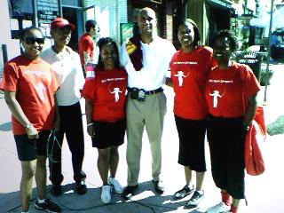 Joy Jones and Double Dutch Team Members with DC Mayor Adrian Fenty